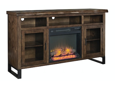 Esmarina Media Console with Fireplace 194610
