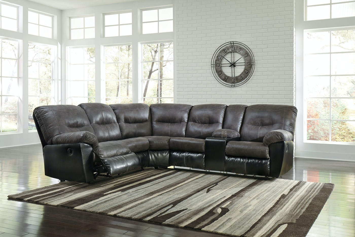 gallery signature large mood fallsworth c smoke sectional by media laf design ashley