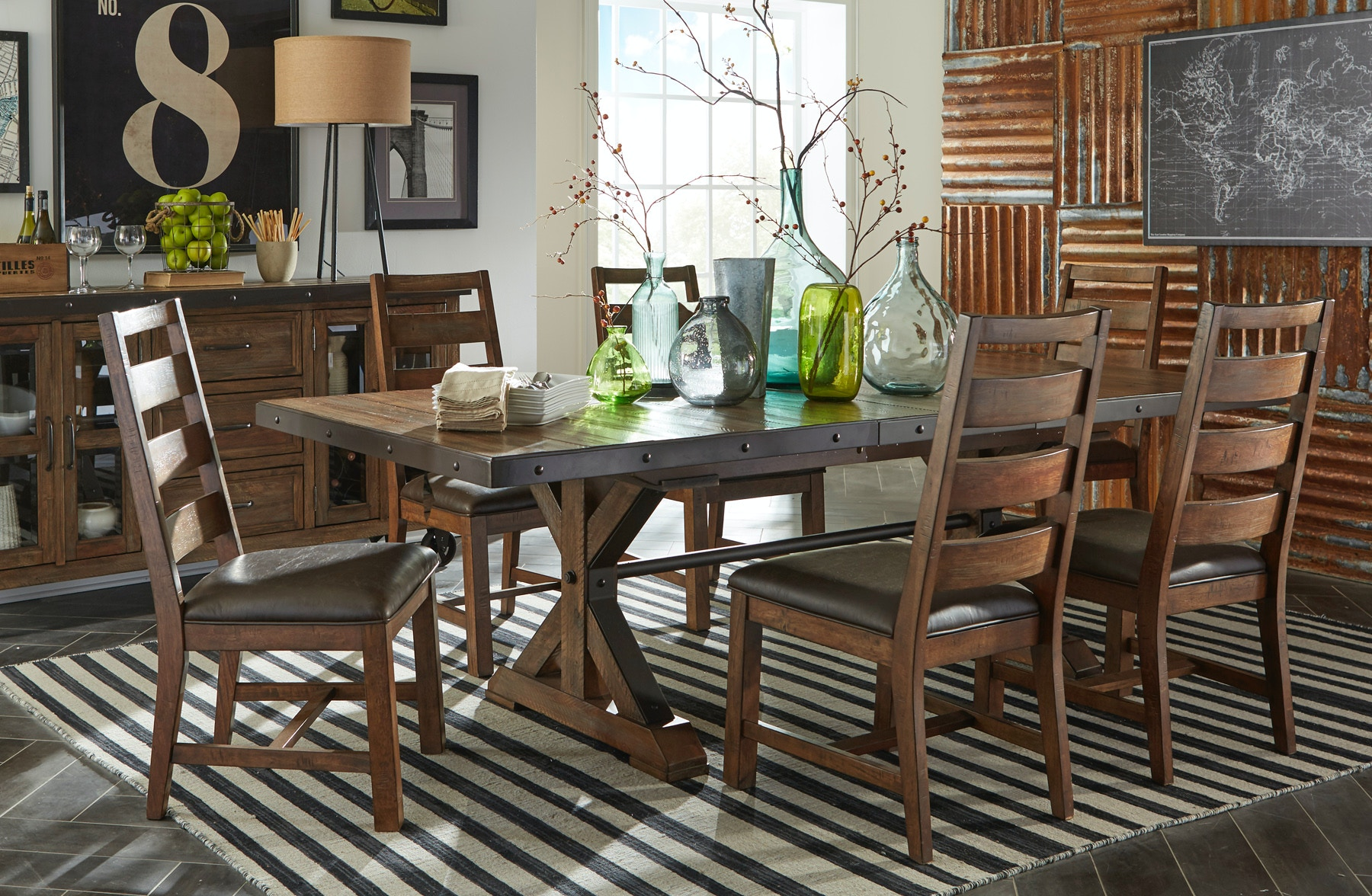 Intercon Dining Room Taos Dining Set 221884 Furniture
