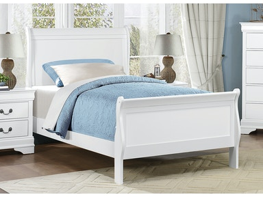 Mayville White Bed - Twin 266763