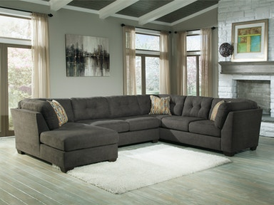 Delta City Left Chaise Sectional - Steel 297611