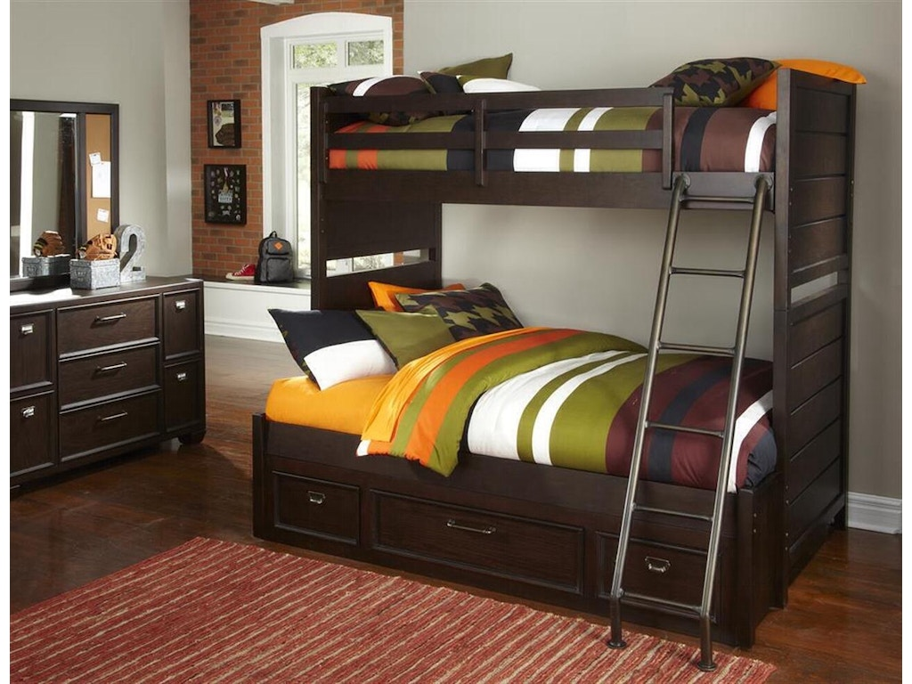 Samuel Lawrence Bedroom Furniture Samuel Lawrence Youth Bedroom Clubhouse Bunk Bed Twin Over Full