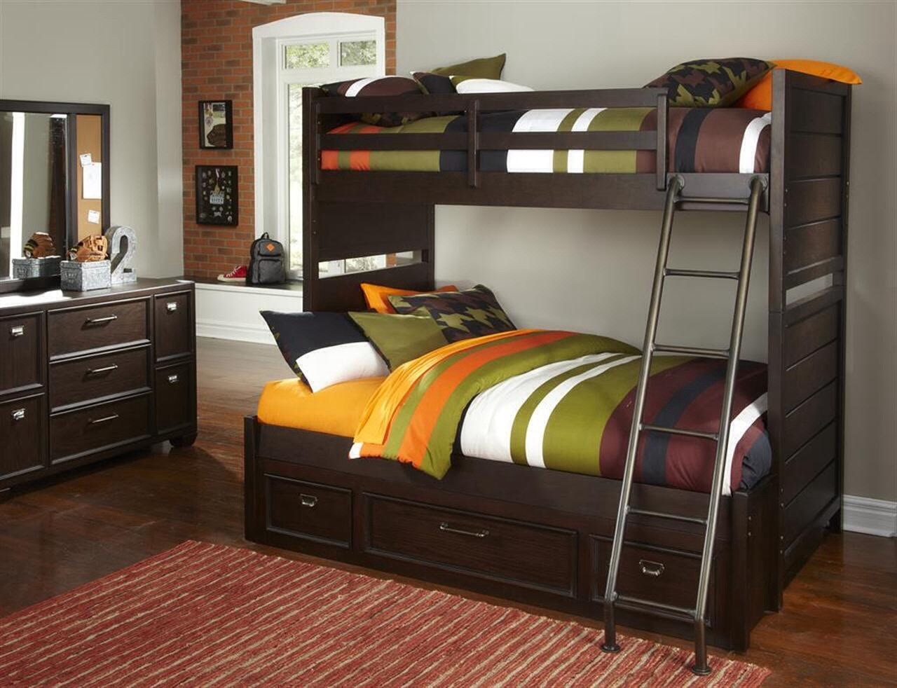 Samuel Lawrence Youth Bedroom Clubhouse Bunk Bed - Twin over Full ...