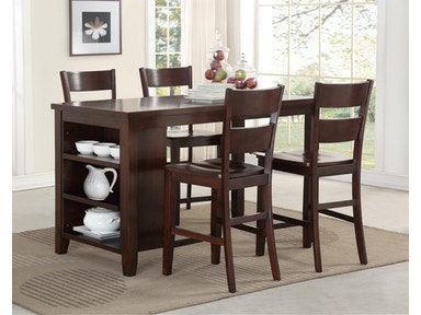 Canton Kitchen Island with Stools 324123