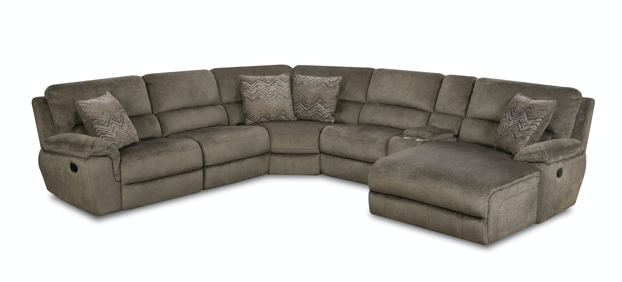 Perfect Corinthian Reilly Grand Power Sectional 332366