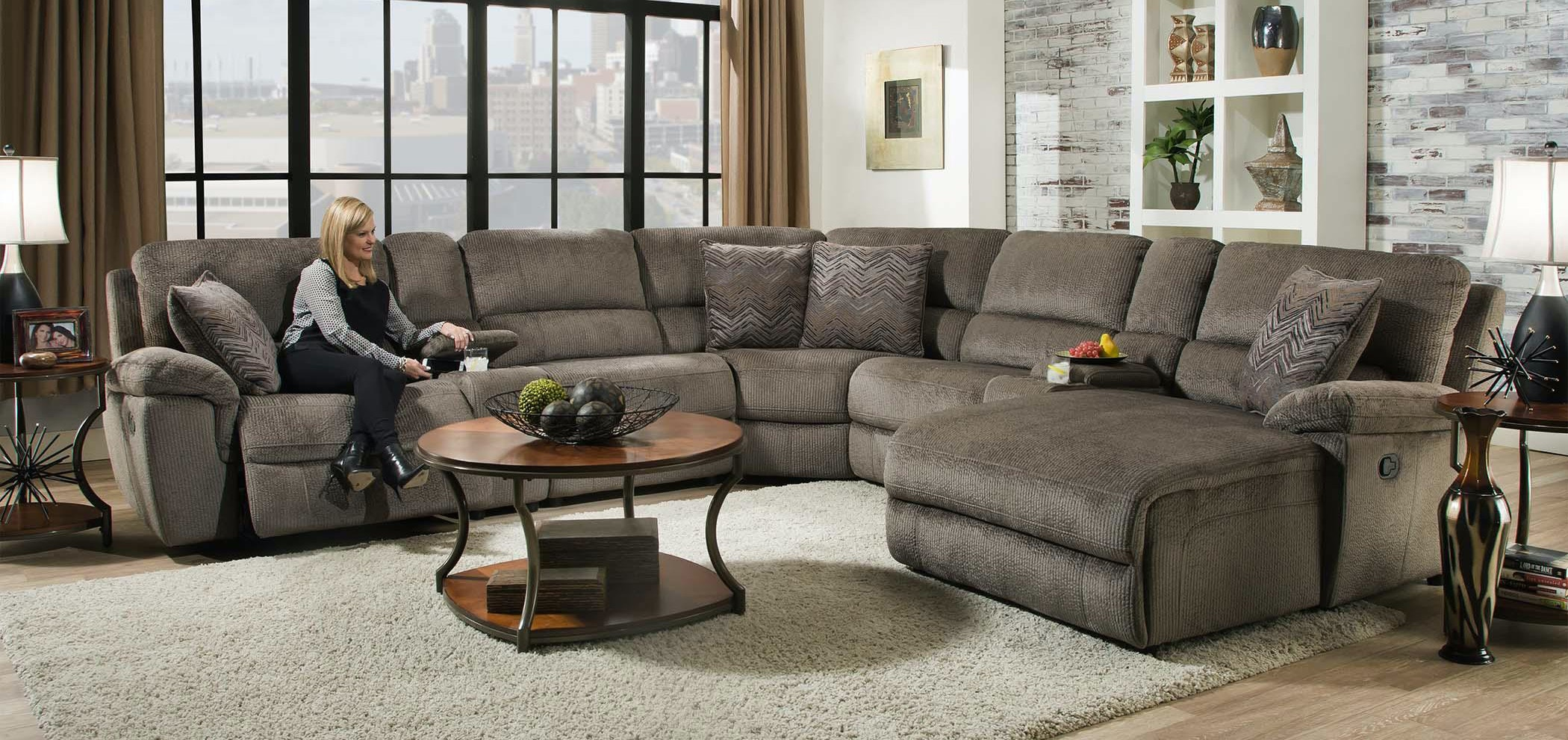 Corinthian Living Room Reilly Grand Power Sectional 332366