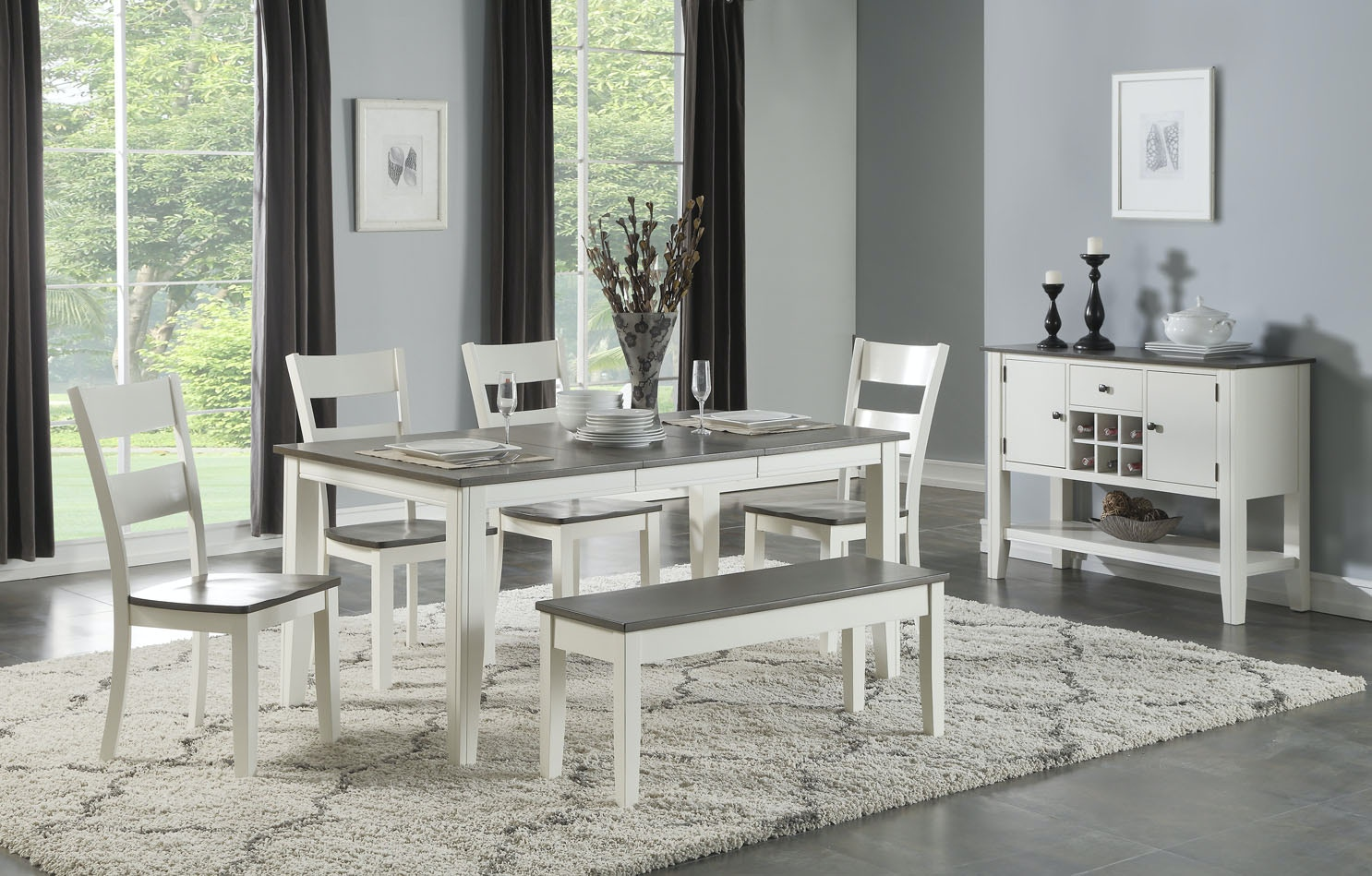 Holland House Dining Room Athens Dining Set 358629 Furniture Fair