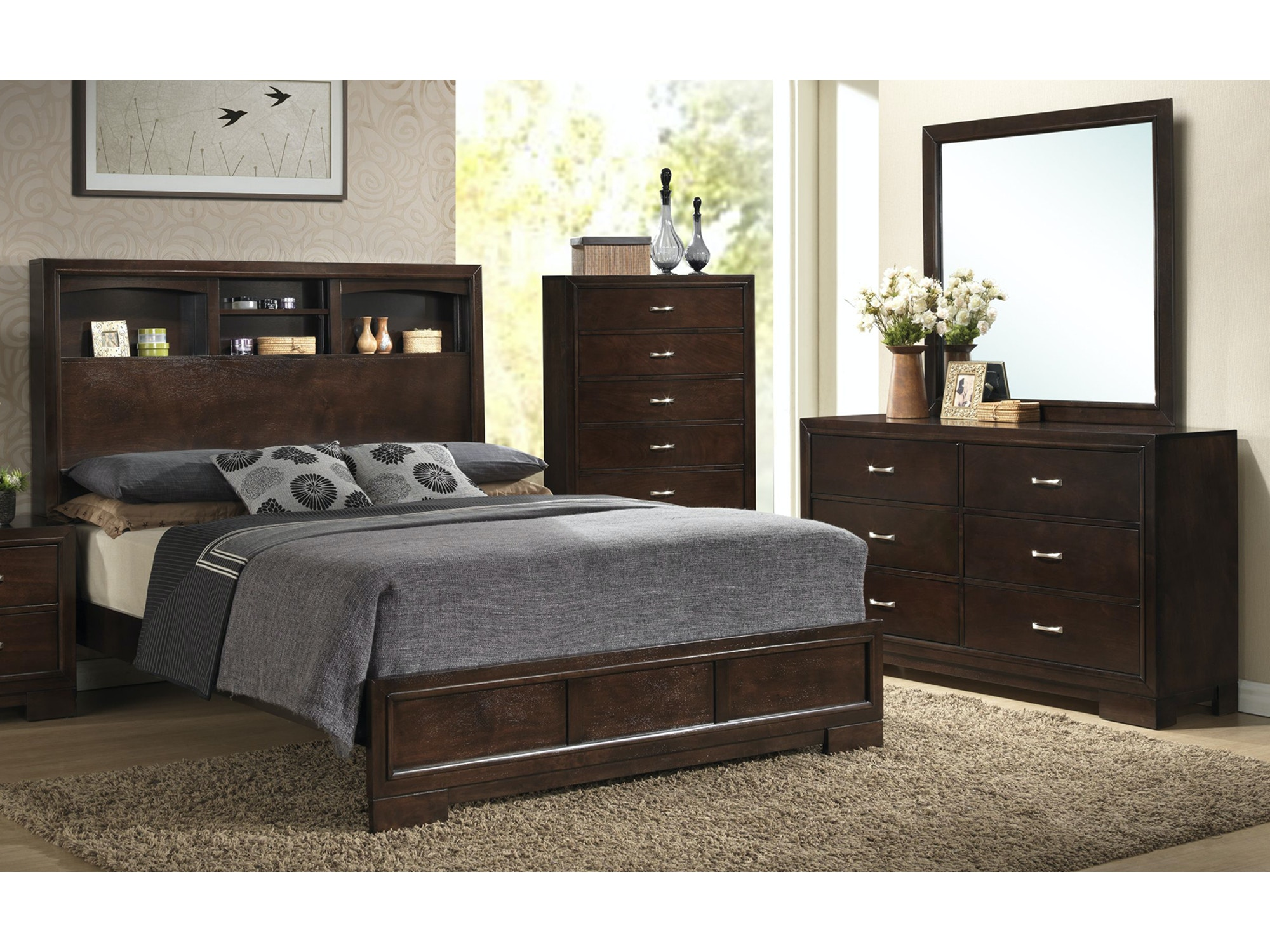 Alameda Bookcase Bedroom Group - Queen 359402