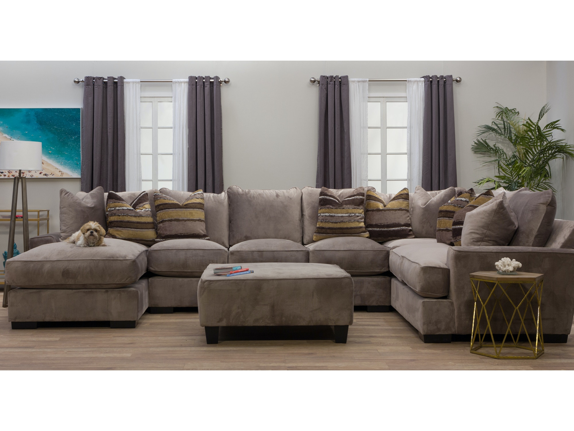 Serendipity Left Chaise Sectional with Ottoman 359834