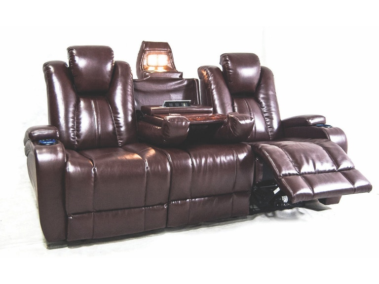 Synergy Home Furnishings Naples Reclining Theater Sofa 040103