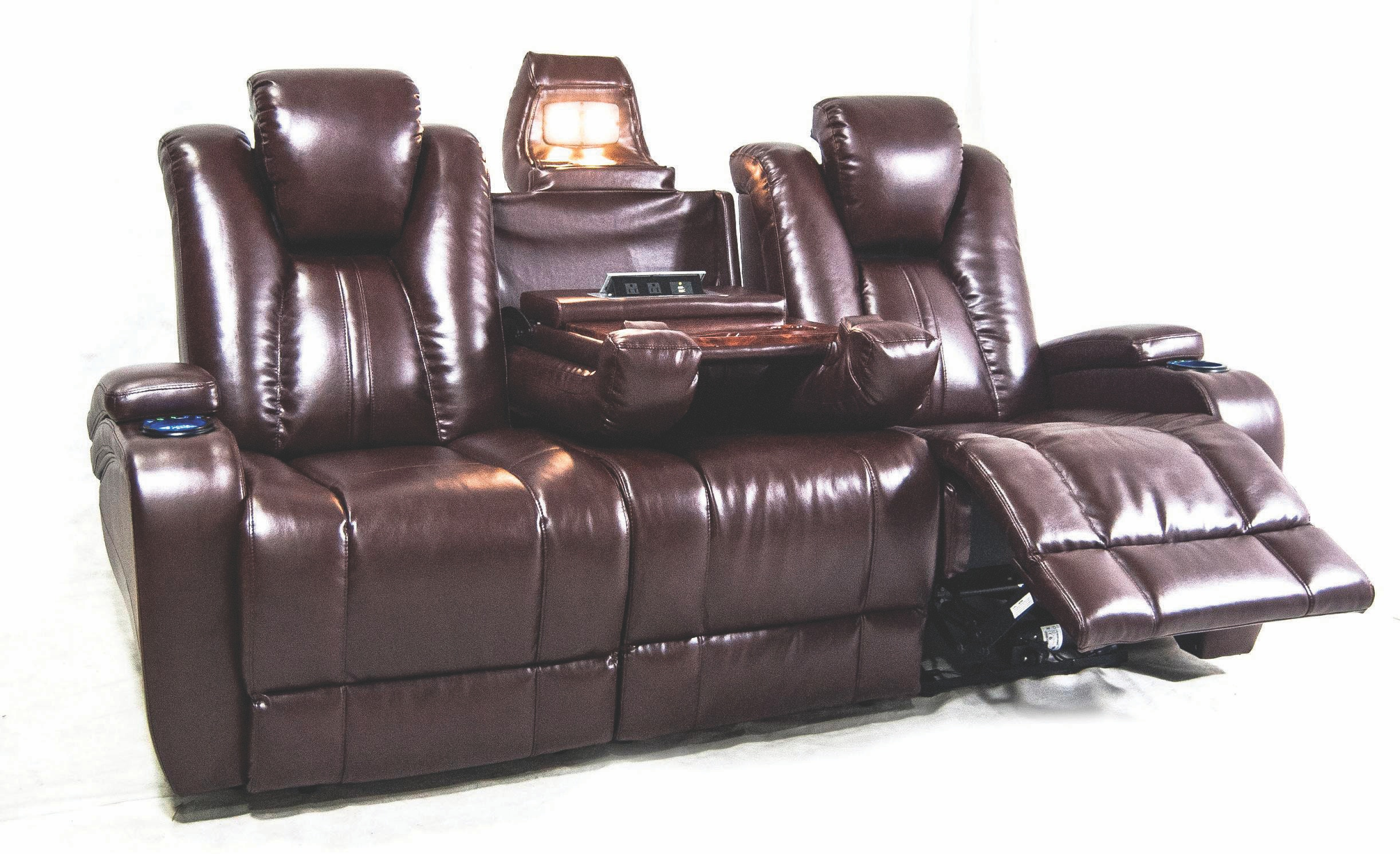 sofa power recliner cindy crawford home gianna gray leather