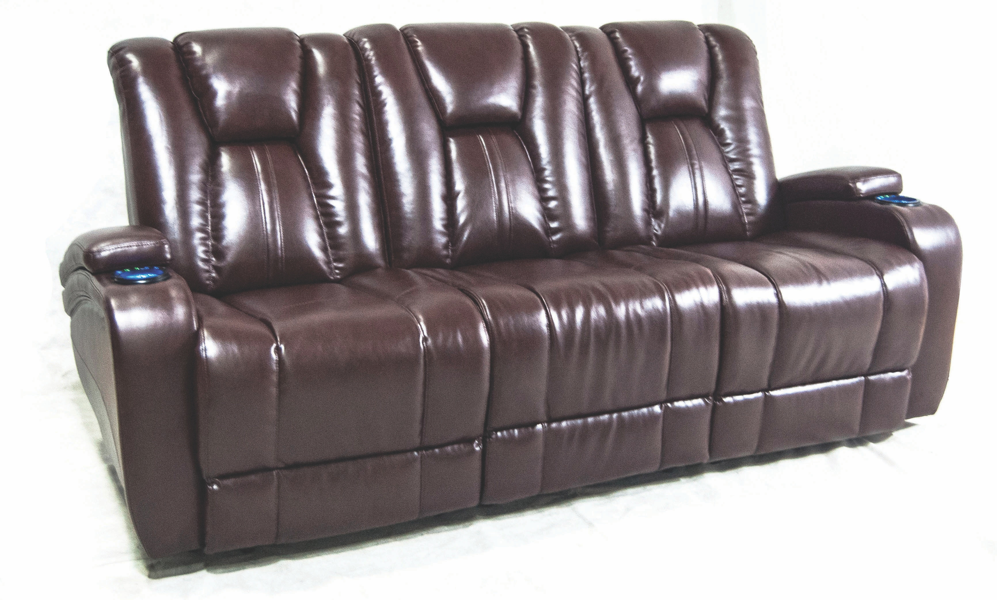Synergy Home Furnishings Living Room Naples Power Reclining  ~ Entertainment Sofa Furniture