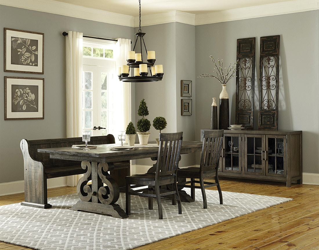 black dining room set with bench. 404967. Bellamy Dining Set Black Room With Bench W