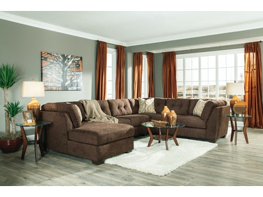 Delta City Left Chaise Sectional - Chocolate 417279