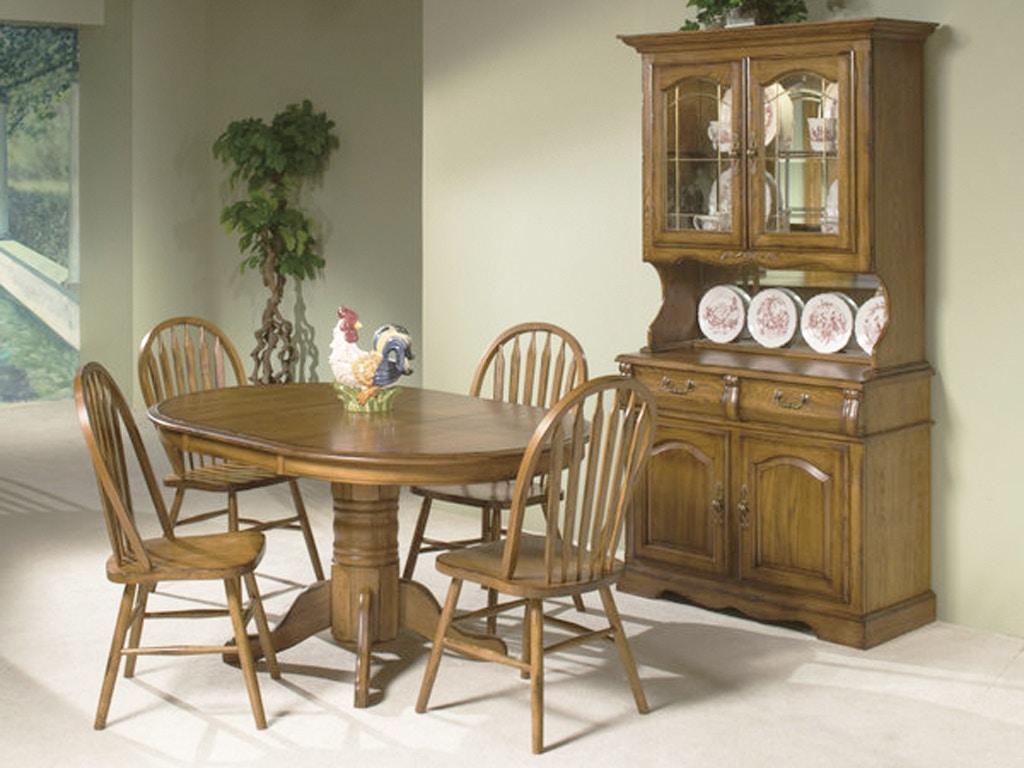 Elegant Intercon Classic Oak Dining Set 125211
