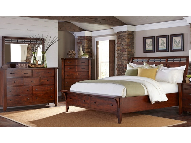 Napa Furniture Designs Whistler Retreat Storage Bedroom King 438677 Furniture Fair