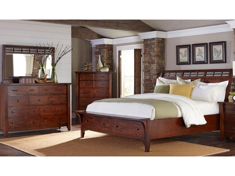 Napa Furniture Designs Whistler Retreat Storage Bedroom King 438677 Furniture Fair