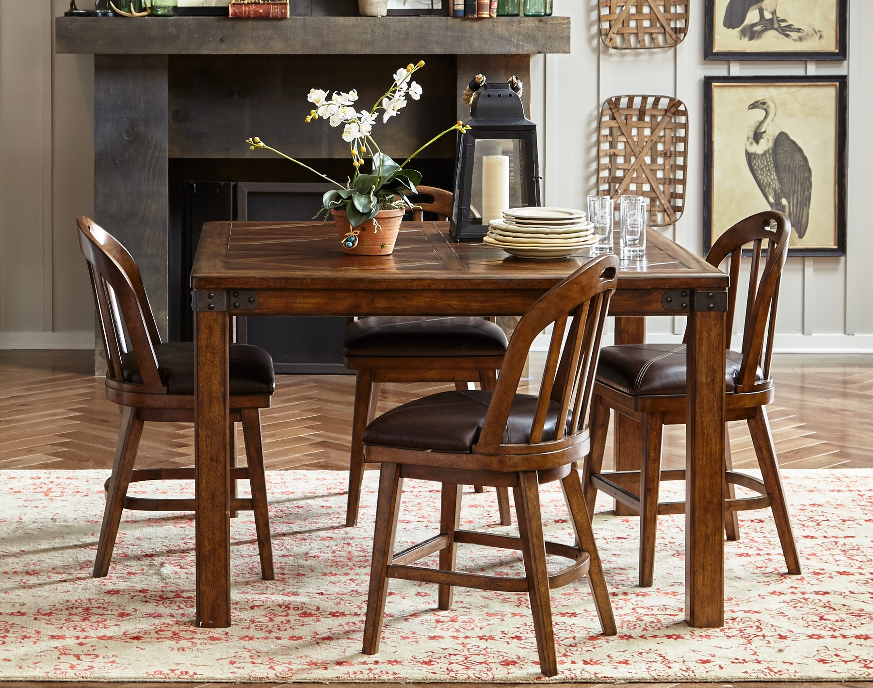 Pulaski Furniture Heartland Falls Windsor Gathering Dining Set 486378