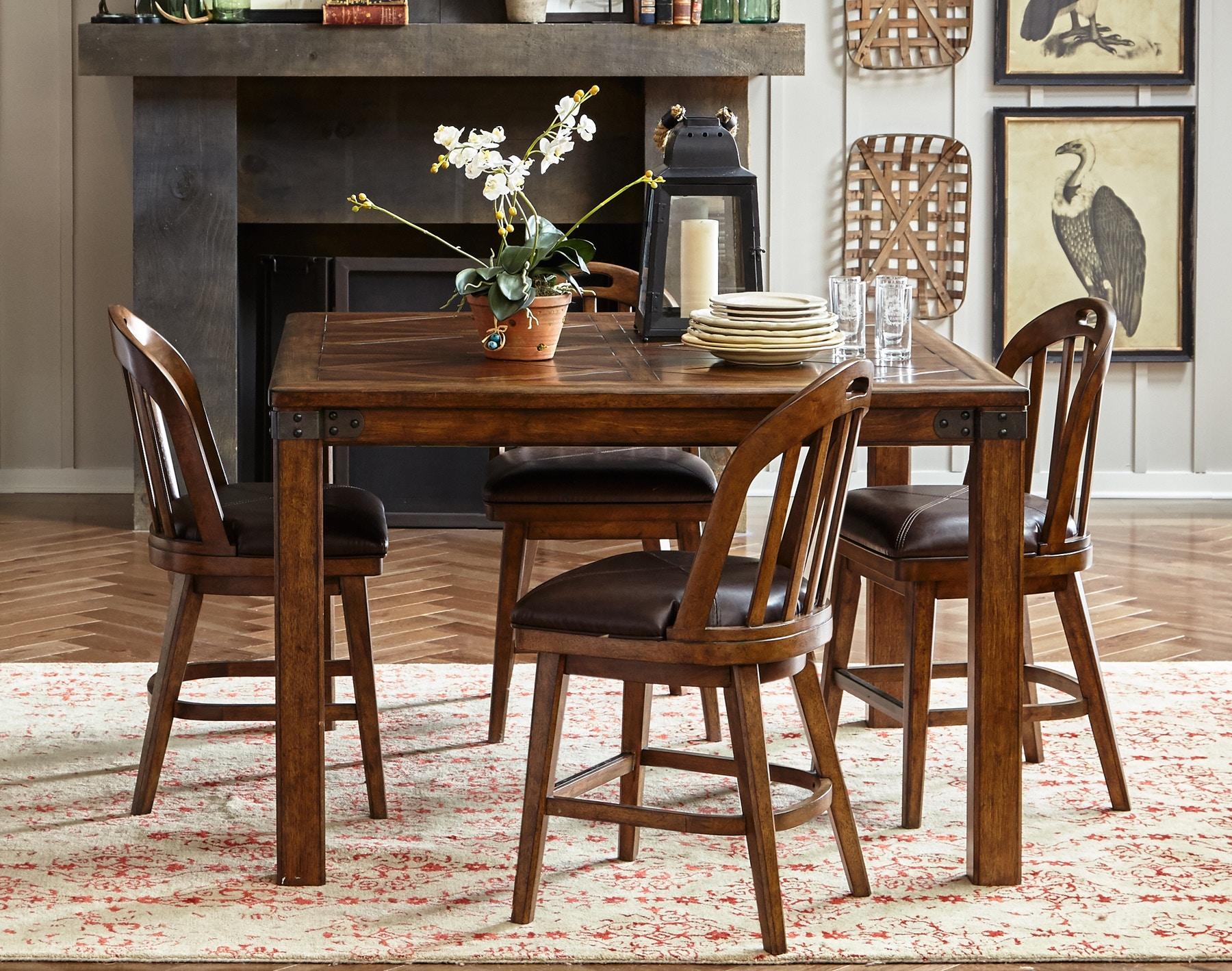 Pulaski Furniture Heartland Falls Windsor Gathering Dining Set 486378