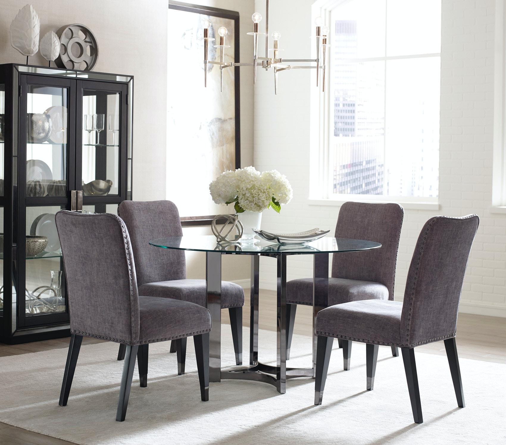 pulaski furniture dining room silverton sound round dining set pulaski furniture silverton sound round dining set 510903 click to zoom