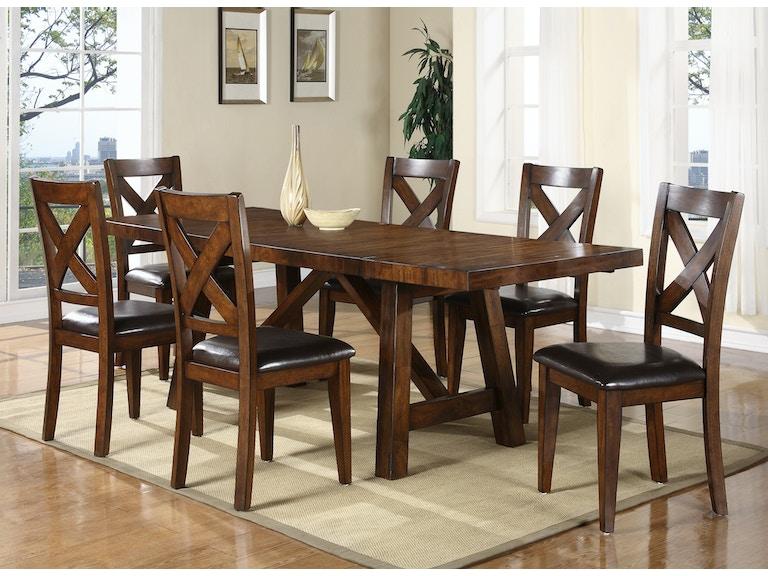 Holland House Dining Room Mango X Back Dining Set 511536 Furniture Fair Cincinnati Dayton