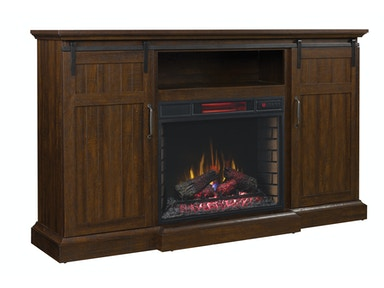 Manning Media Console with Fireplace 527428