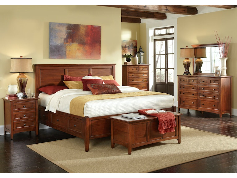 A America Westlake Cherry Storage Bedroom Group - Queen 632823