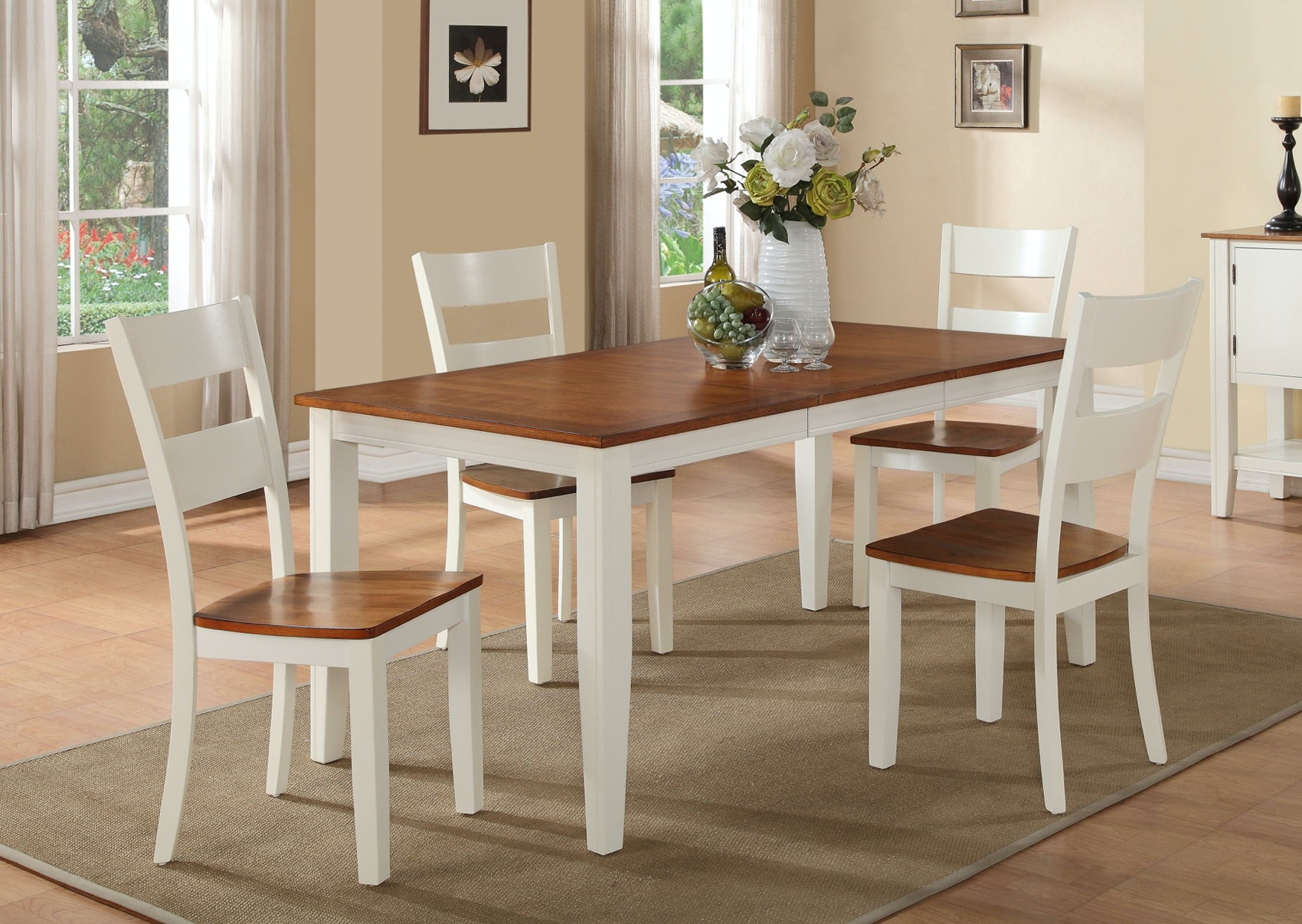 Awesome The Lorain Dining Set (548407) Includes The Table And Four Side Chairs.  Lorain Dining Set 548407 Holland House