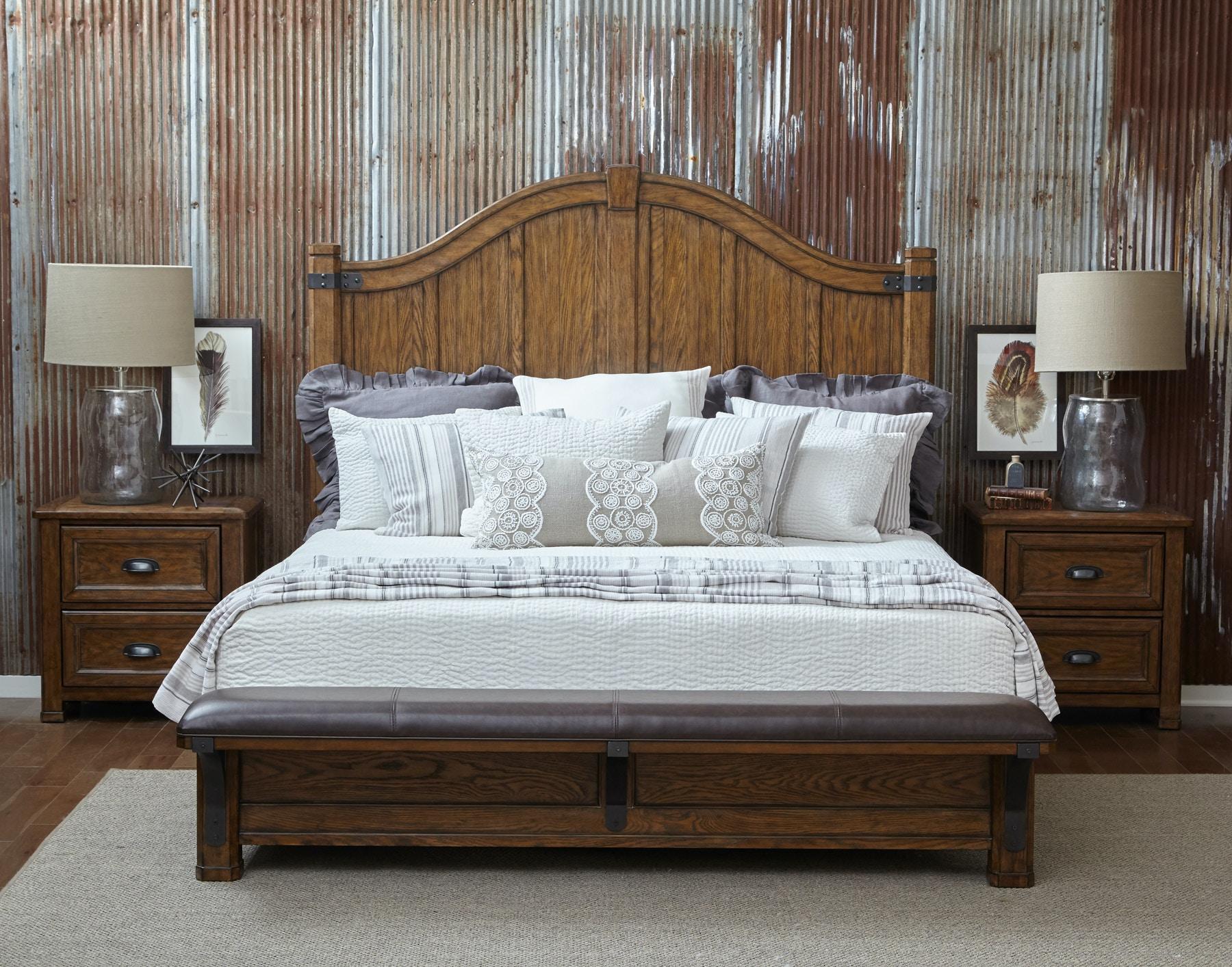 Pulaski Furniture Bedroom Heartland Falls Bed Queen 554594 Furniture Fair Cincinnati