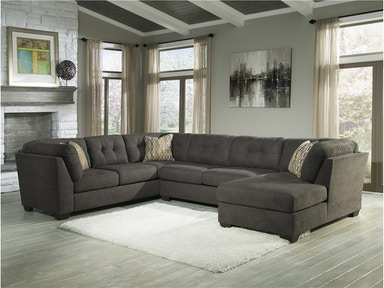 Delta City Right Chaise Sectional - Steel 558347