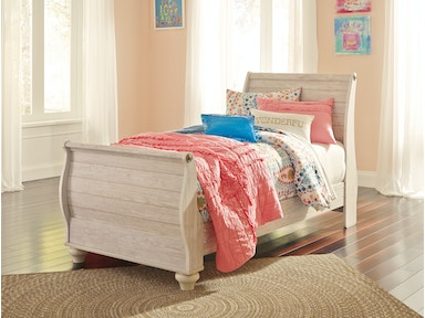 Willowton Sleigh Bed - Twin 559830