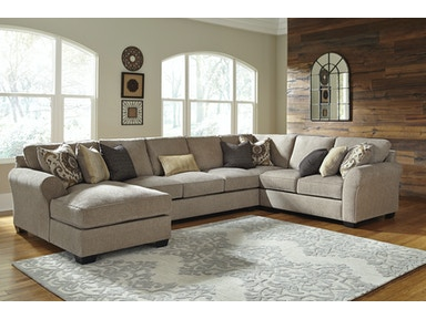 Signature Design By Ashley Living Room Pantomine Left Chaise Sectional 572234 Furniture Fair