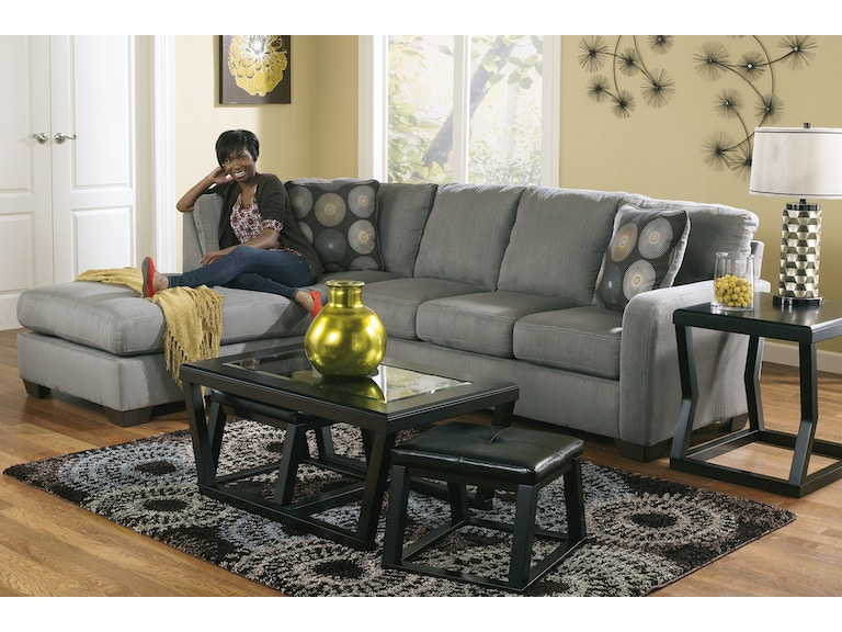 Signature Design By Ashley Zella Charcoal Left Chaise Sectional 582225