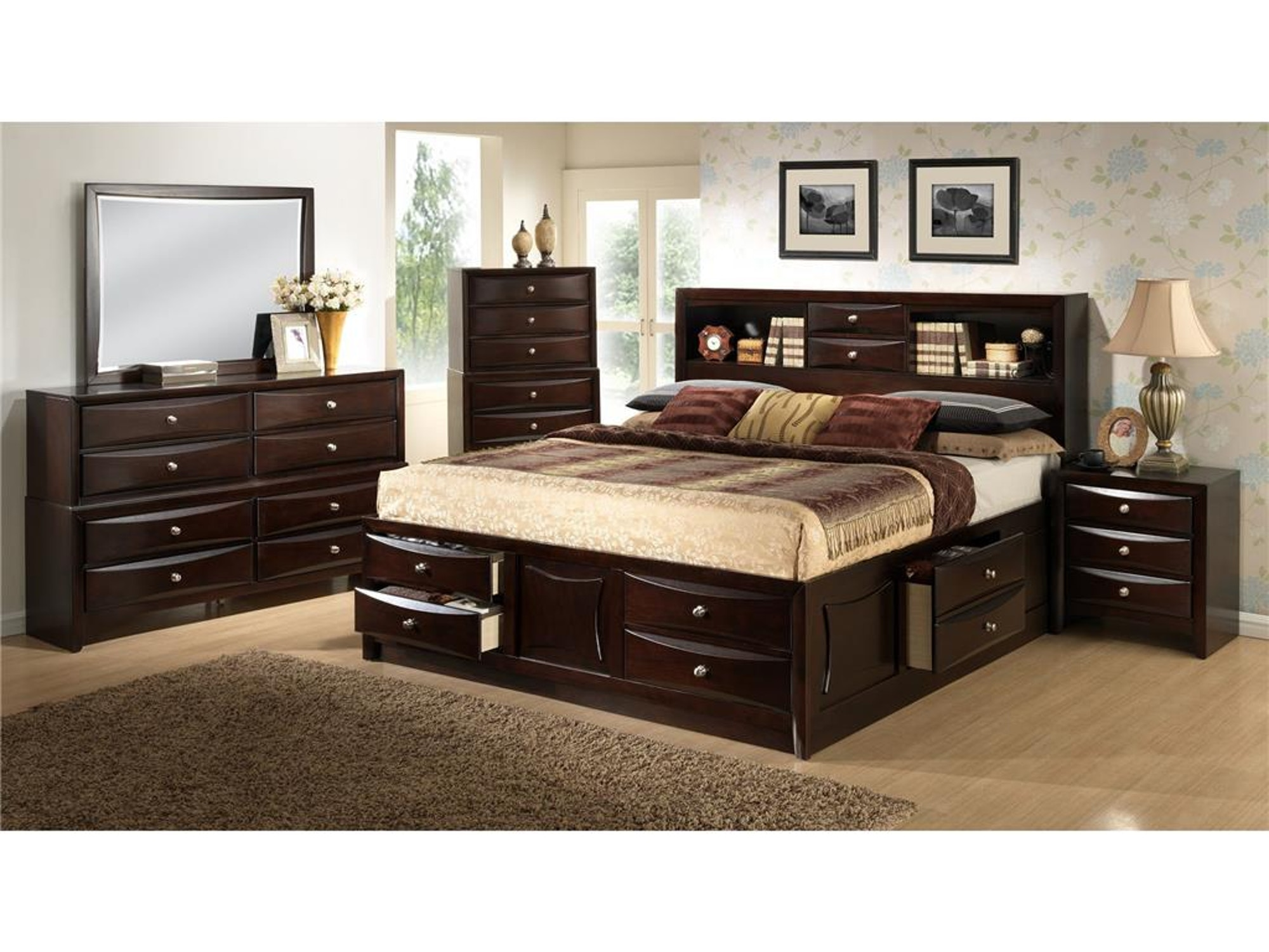 Davida Storage Bed - King 583932
