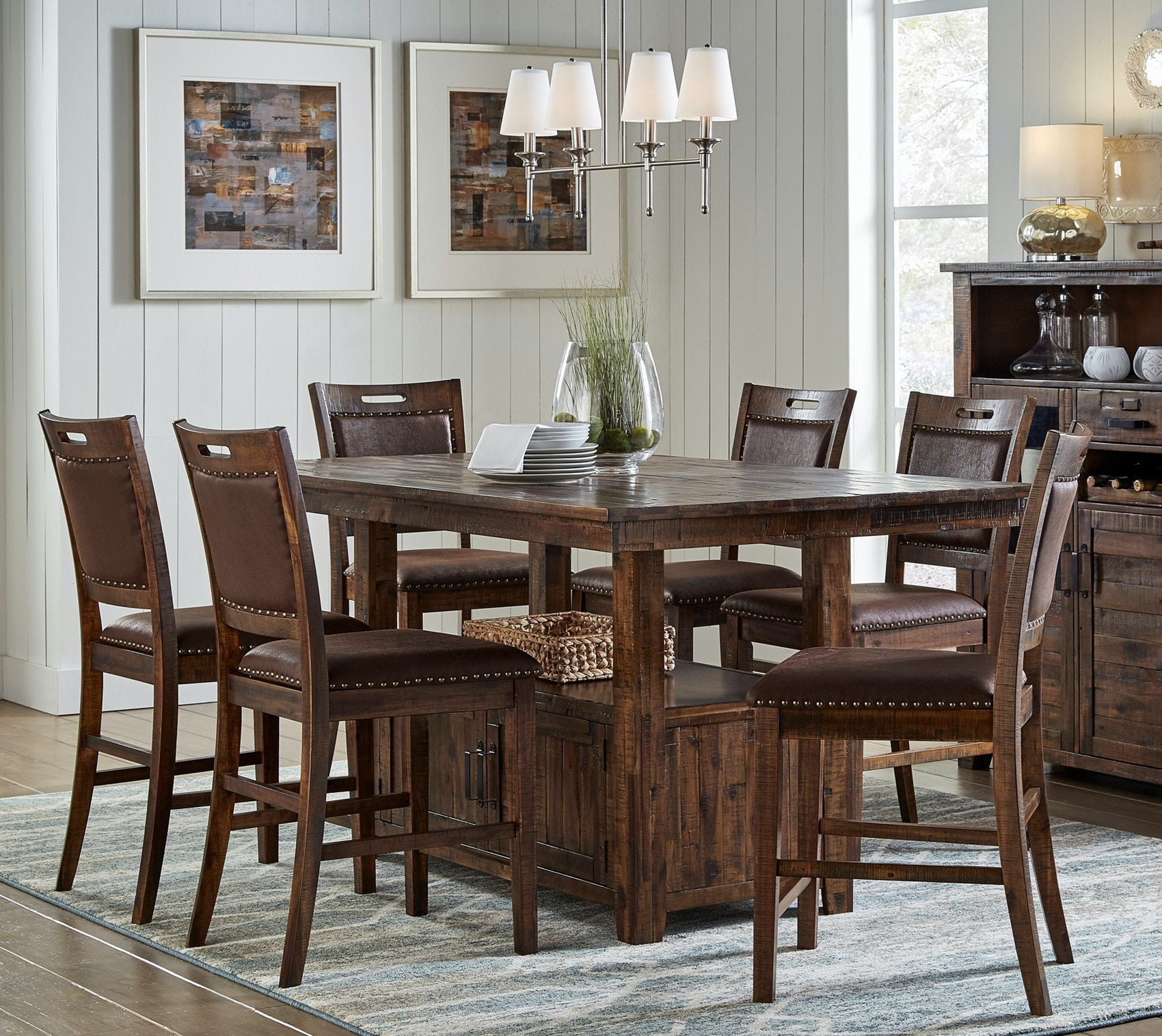 Jofran Dining Room Cannon Valley Counter Dining Set 591191