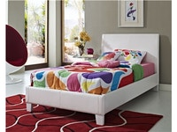 Fantasia White Bed - Twin 912733