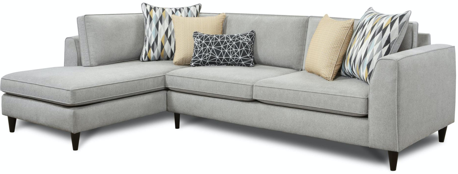 Fusion Living Room Popstitch Pebble Left Chaise Sectional 636357  ~ Sofa With Chaise Sectional