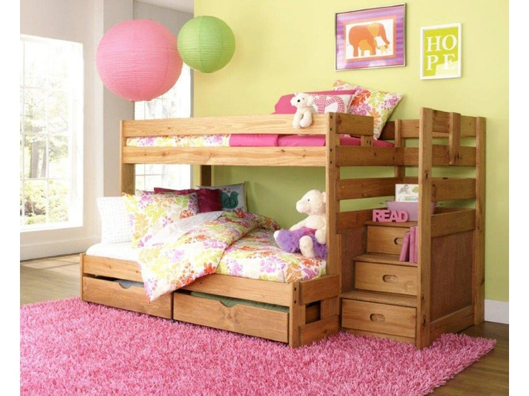 Simply Bunk Beds Saddlebrook Staircase Bunkbed