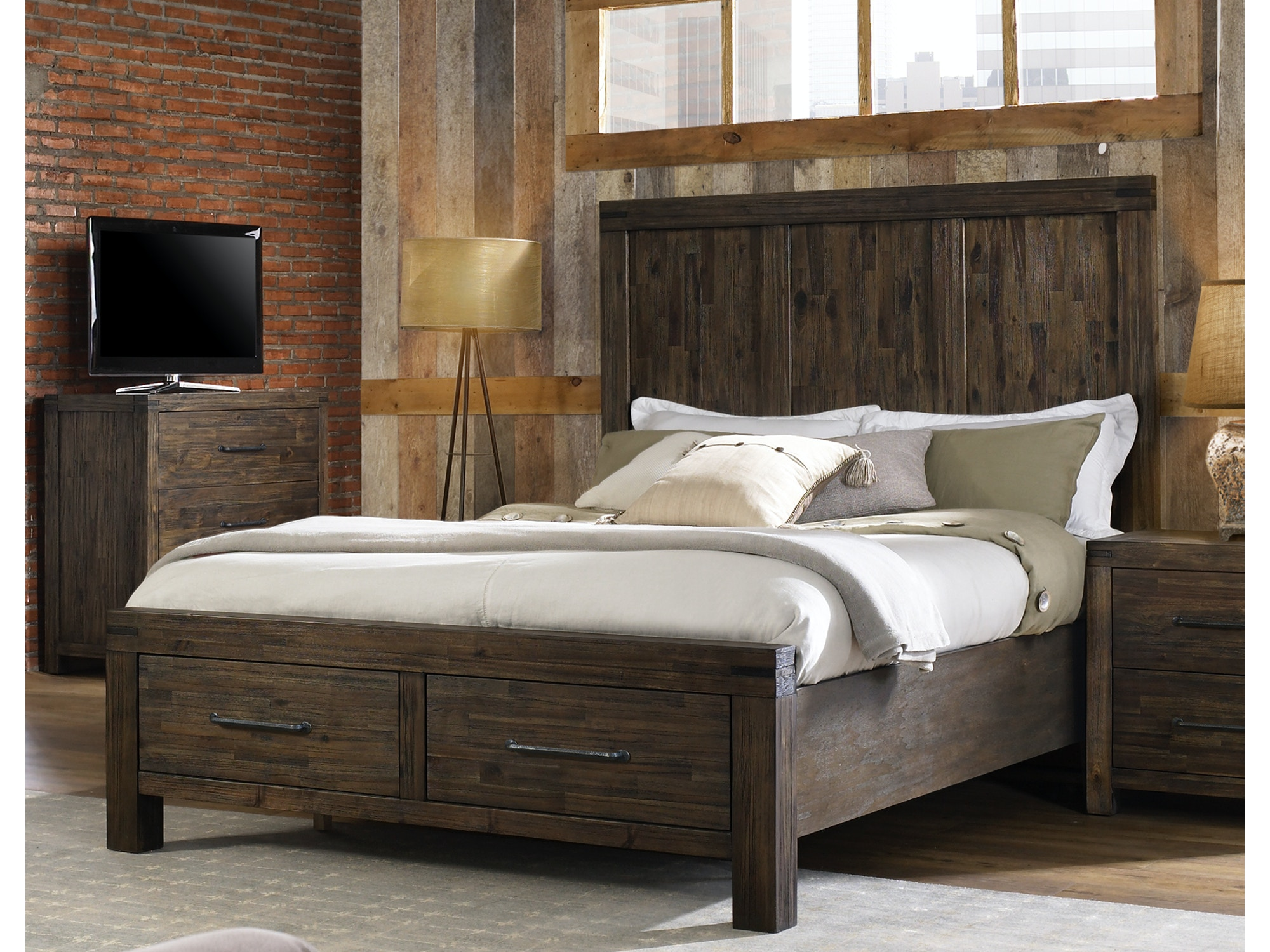 St. Croix Storage Bed - King 654012