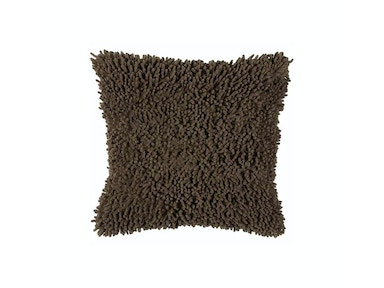 Brown Shag Accent Pillow 673576