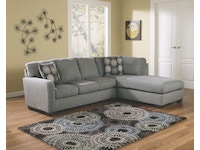 Zella Charcoal Right Chaise Sectional 275120