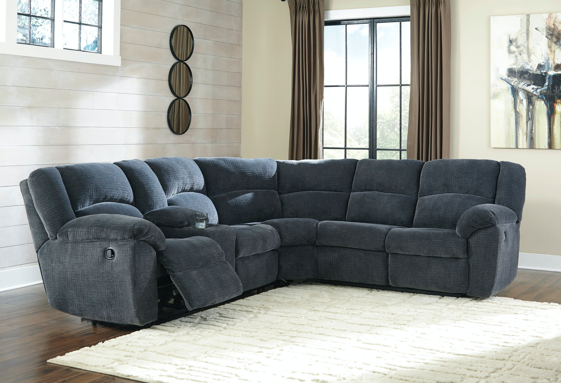 Signature Design by Ashley Living Room Timpson Reclining Sectional