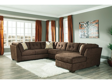 Delta City Right Chaise Sectional - Chocolate 824631