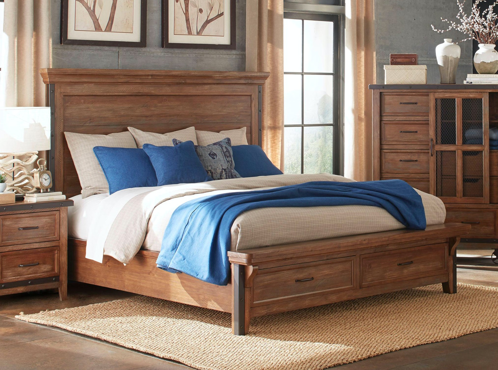 intercon bedroom taos storage bed queen 832068 furniture fair