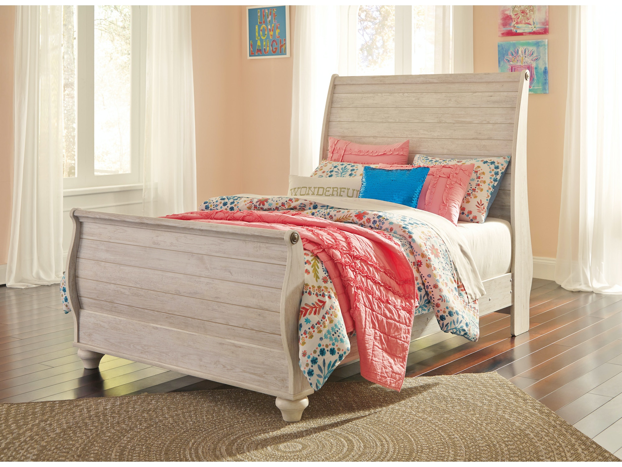 Willowton Sleigh Bed - Full 835948