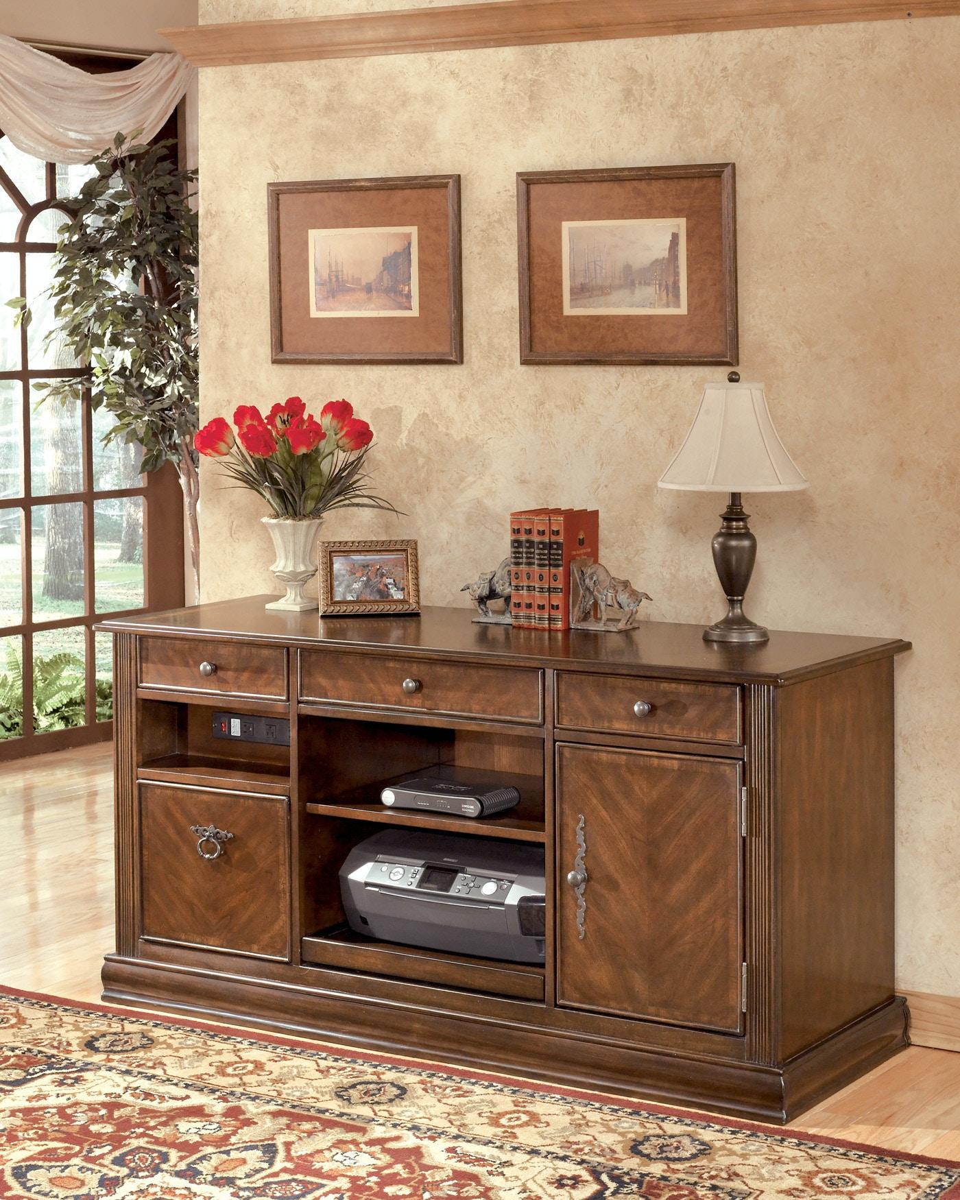 Signature Design by Ashley Home Office Hamlyn Storage Desk 840055 - Furniture Fair - Cincinnati ...
