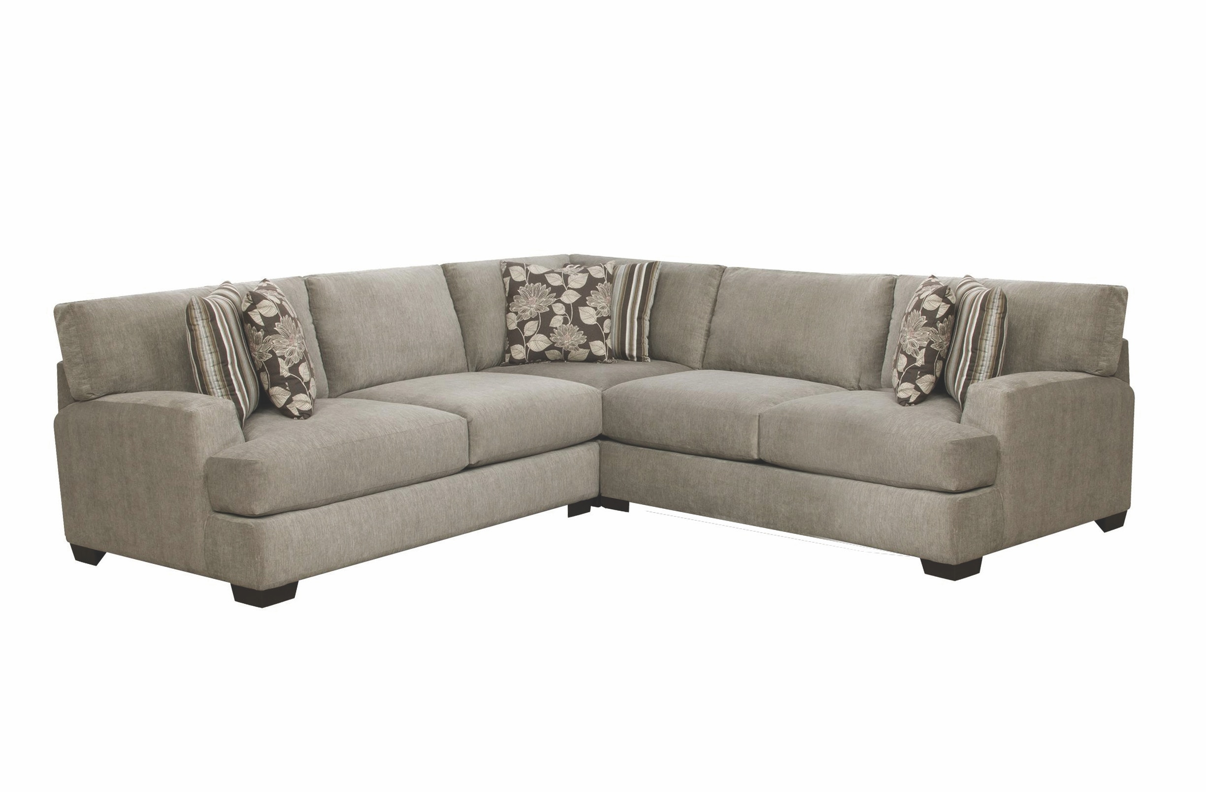 Corinthian sectional corinthian 862 sectional sofa with for Sectional sofa furniture fair