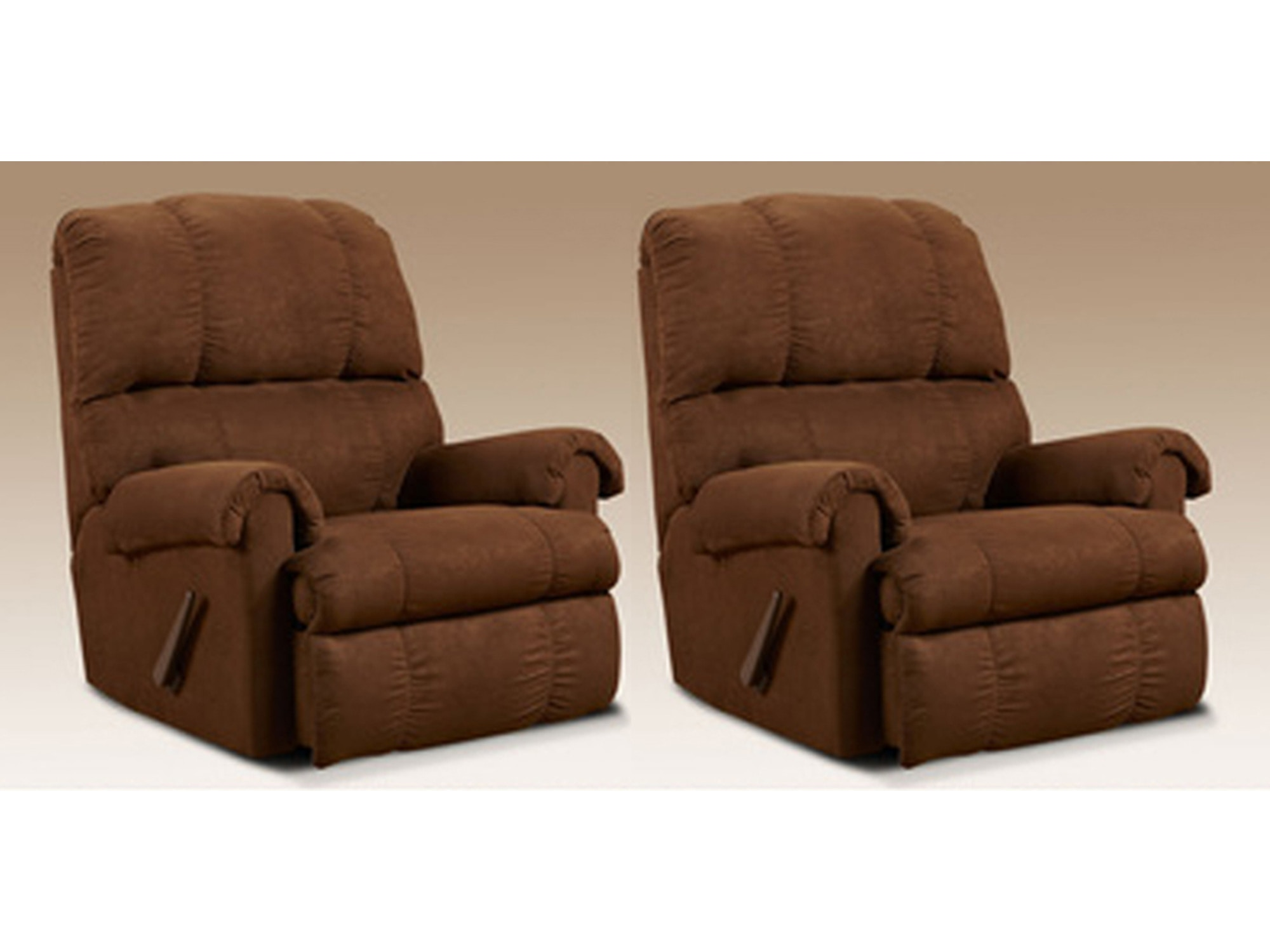 Chocolate Rocker Recliner Pair 554296