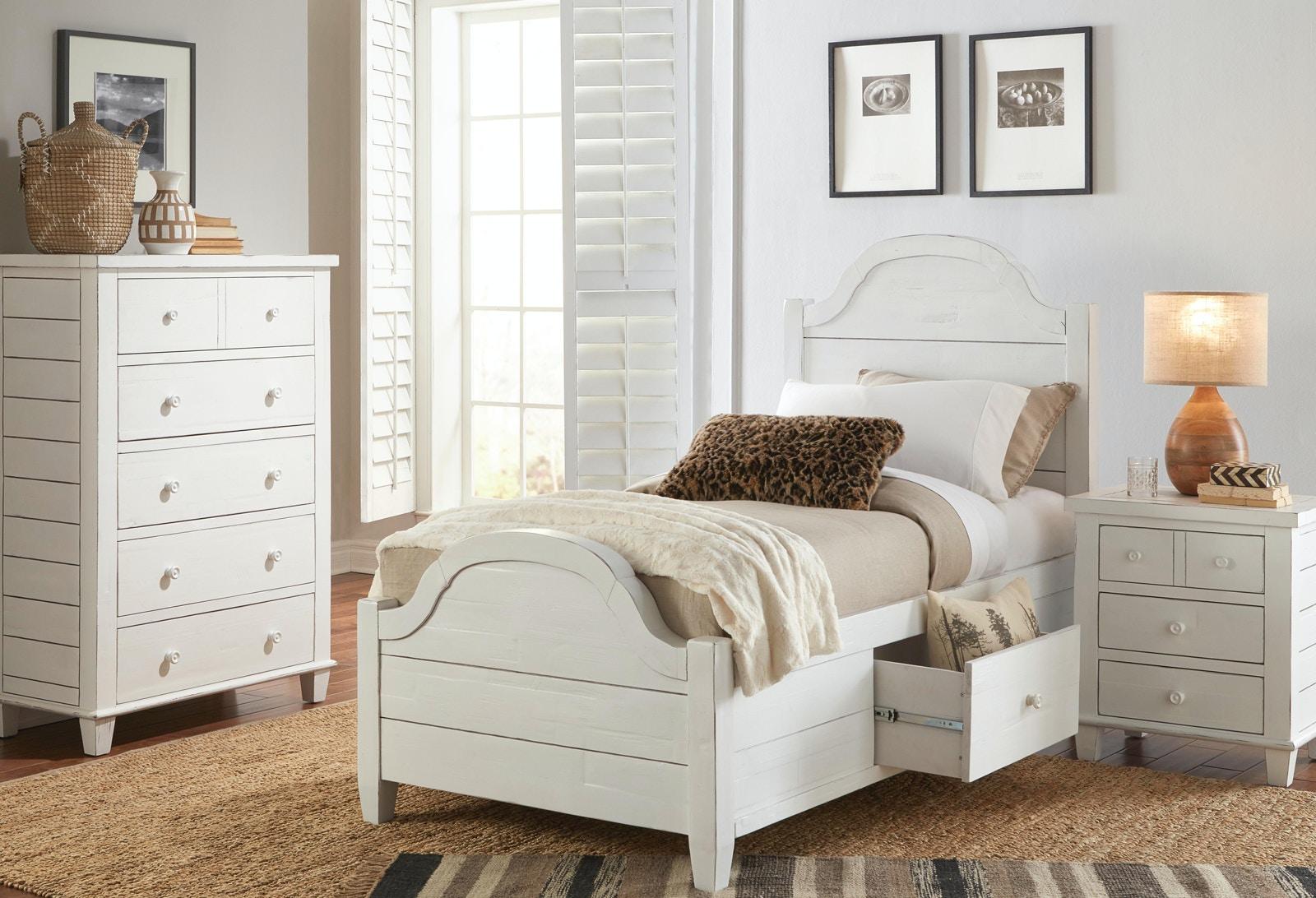 jofran chesapeake white storage bed full