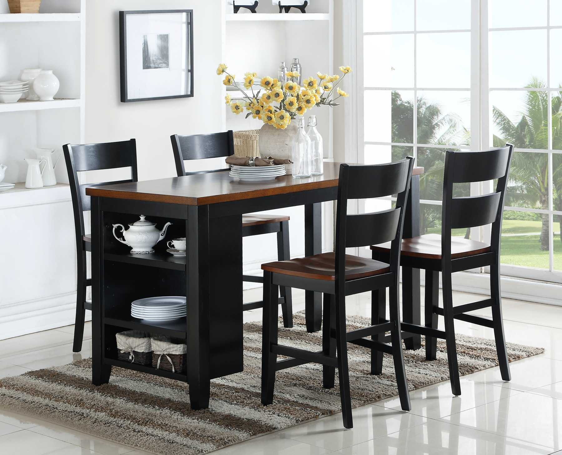 Holland House Findlay Kitchen Island With Stools 923828